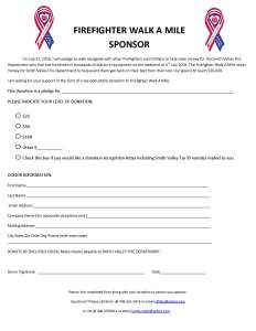 Firefighter Walk-a-Mile Sponsor Form