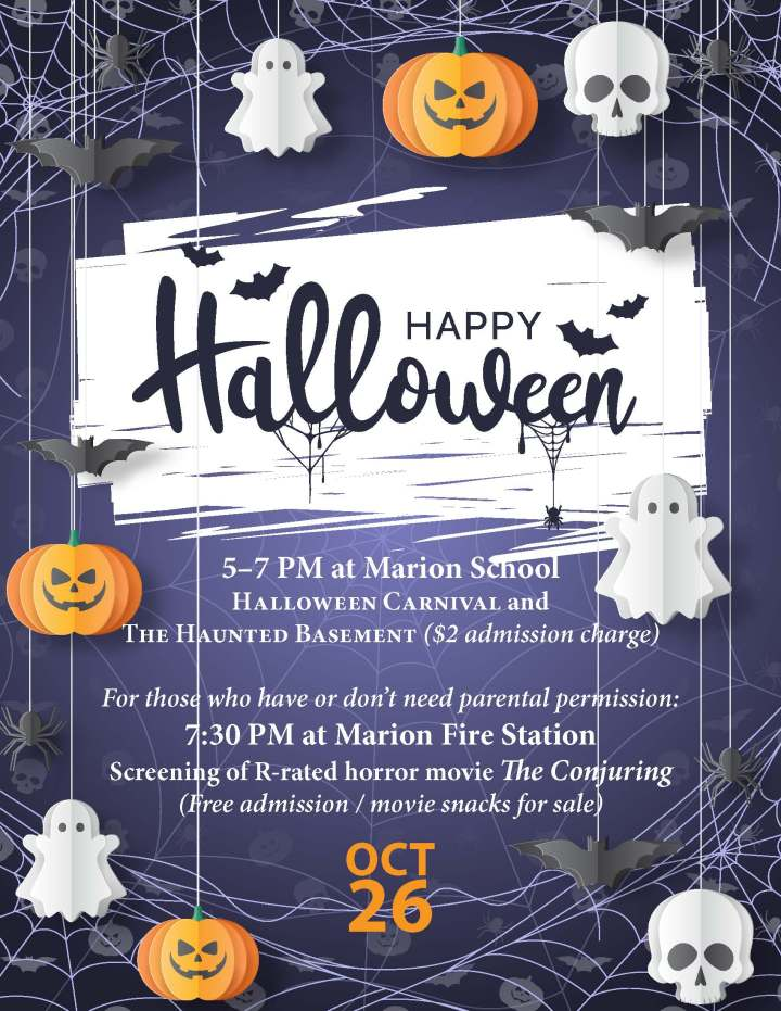 Invitational flyer for Halloween Party on October 26, 2019
